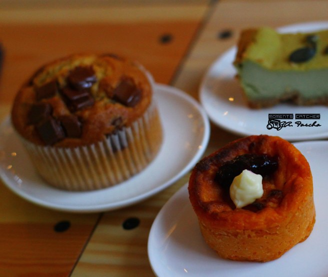 Choco Muffin, Sweet Potato Cake, Green tea Cheesecake