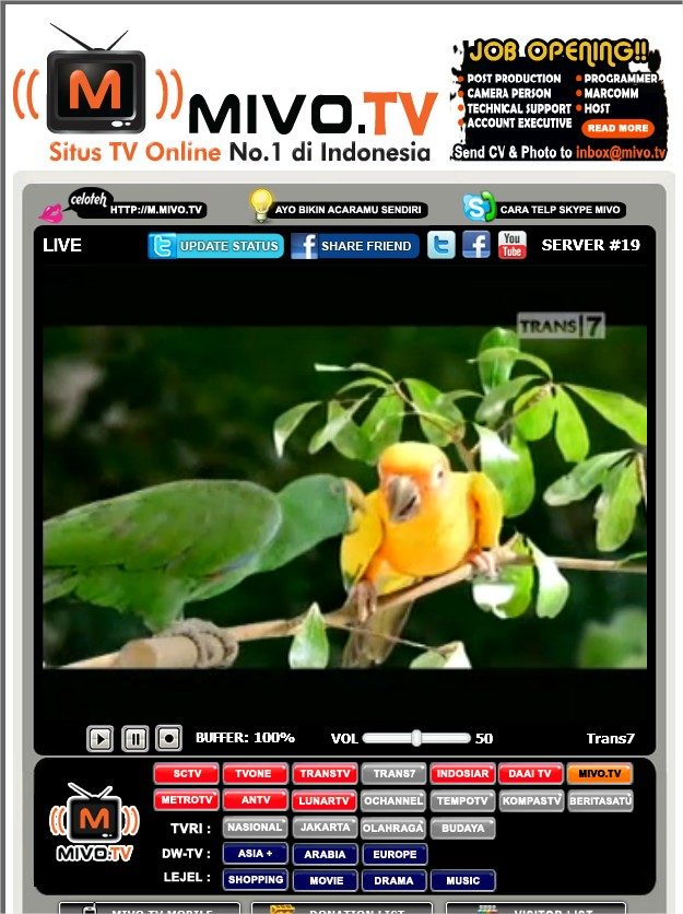 Mivo TV  Indonesia online