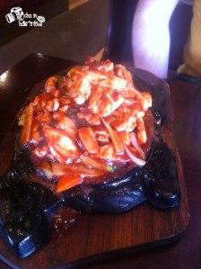 Ayam hot plate dengan hoisin sauce