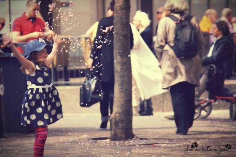 Happy Cherry Blossom girl