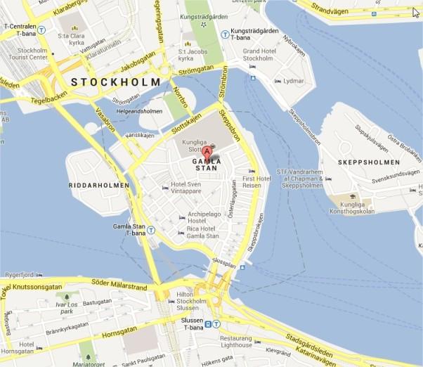 Gamla Stan Map