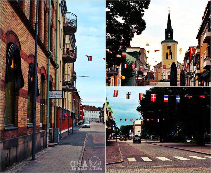 Jalan besar di kota Ljungby