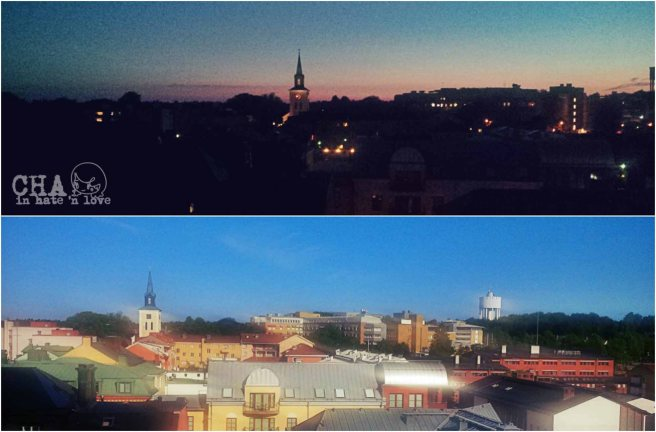Ljungby by night and day