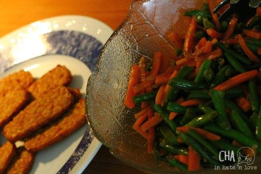 Tempe  Tumis sayuran