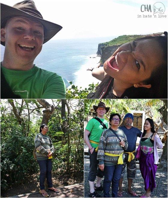 kami di Uluwatu Monkey Temple loooh!
