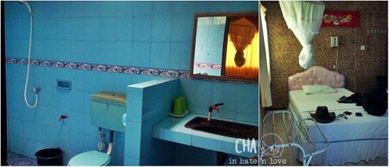 Kamar mandi dan bed tambahan