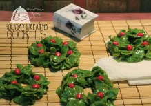 Holiday Wreath Cookies kali ini by Cha
