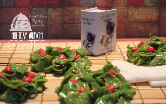 Holiday Wreath Cookies