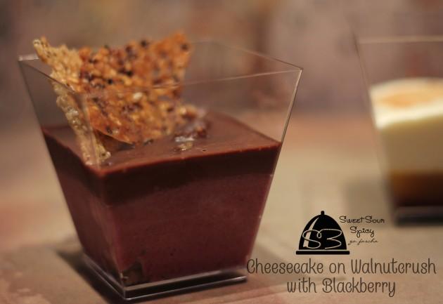 Blackberry Cheesecake on Walnutcrush